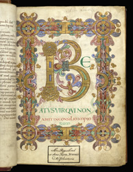 Beatus Page, In 'The Eadui Psalter'